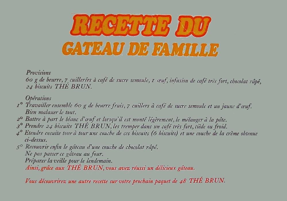 Gâteau de famille Thé Brun