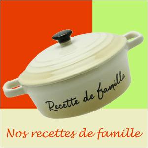Nos recettes de famille