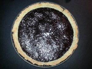 Tarte au chocolat.  <p>La tarte au chocolat est un must-have de toute bonne cuisinière.</p>