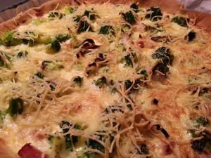 Tarte aux brocolis et jambon