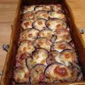 Gratin aubergines boeuf et mozzarella
