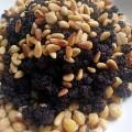Salade de pois chiches au boudin noir
