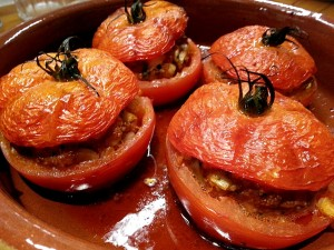 Tomates farcies orientales