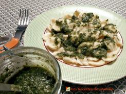 Pesto maison au basilic frais