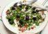 Salade de petits pois frais, feta, radis et concombre